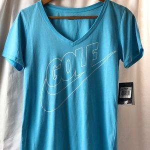 Nike Golf  Women's V-Neck T-Shirt Blue.